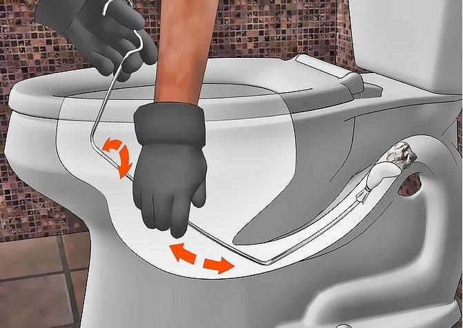 bồn cầu dội nước không xuống