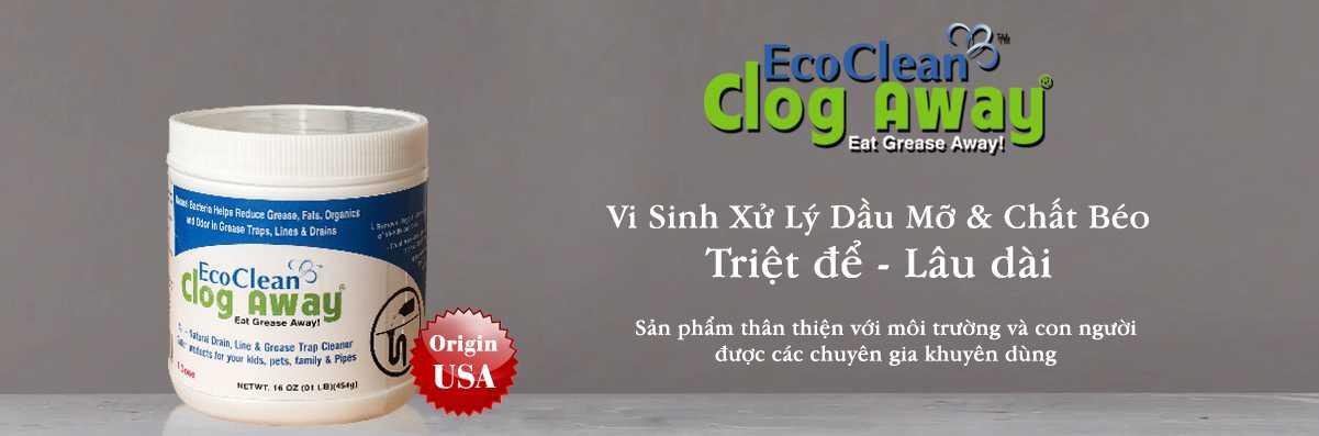 vi sinh ăn mỡ ecoclean clog away