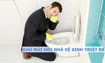 Khử mùi hôi nhà vệ sinh triệt để