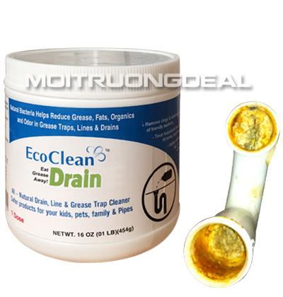 EcoCleanTM Drain: Vi sinh ăn mỡ xử lý tắc đường ống (sản phẩm tại Hà Nội)