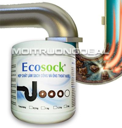 EcoSockTM - Xử lý thông tắc tức thời, phân hủy tóc, dầu mỡ, đất và cặn bã